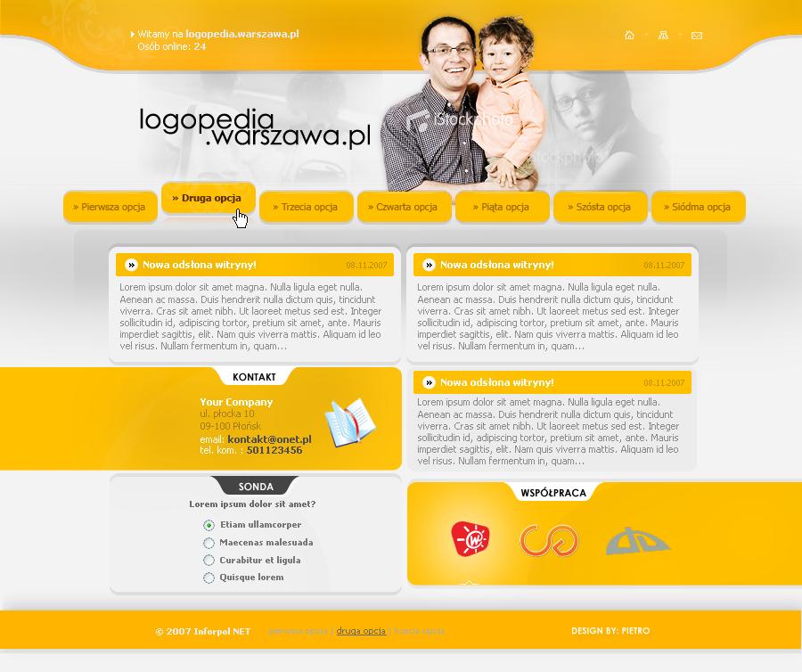 Projekt strony logopedia.warszawa.pl